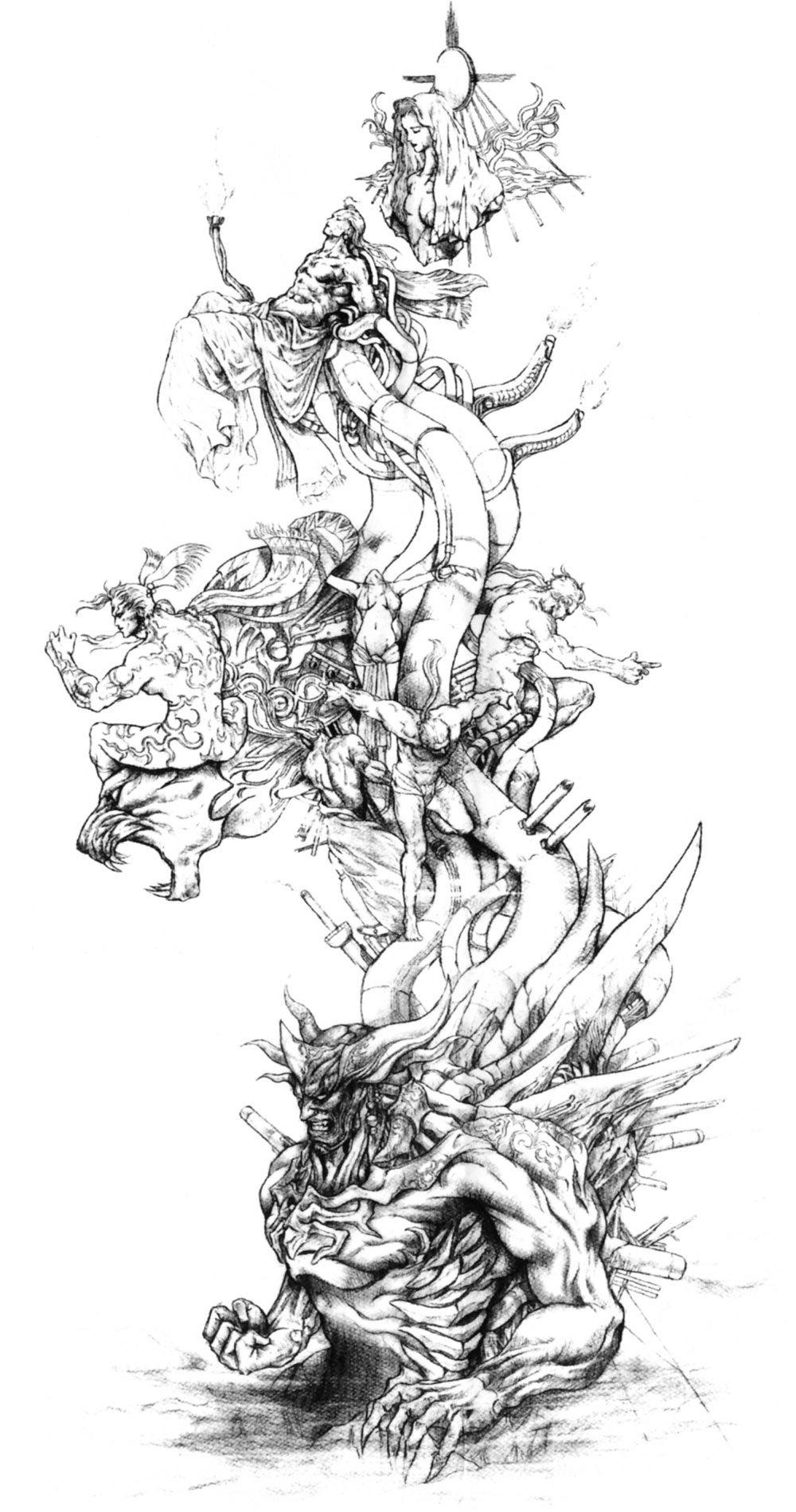 FF Bahamut by novicekid Dragons in 2019 Dragon art Dragon