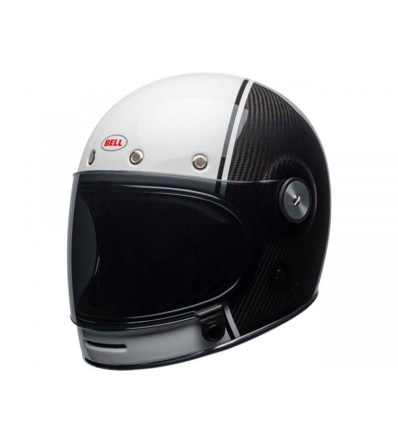 Casque Bell Bullitt Carbon Gloss Blanc Carbon Pierce Casque Bell Casques Motos Casque Moto