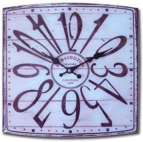 Orologio Station -    Misure: 34X34 cm Materiale: Vetro - € 17,90 - #vintage #orologio #station #london