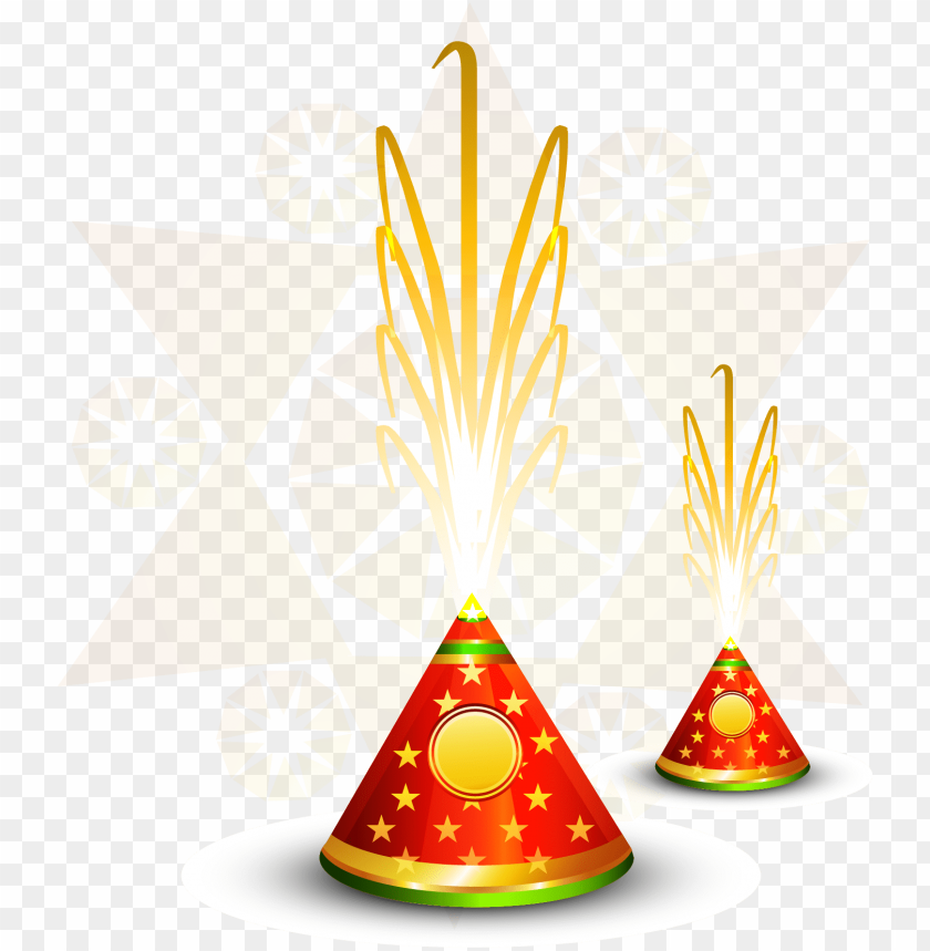 vector diwali fireworks firecracker hindi free clipart