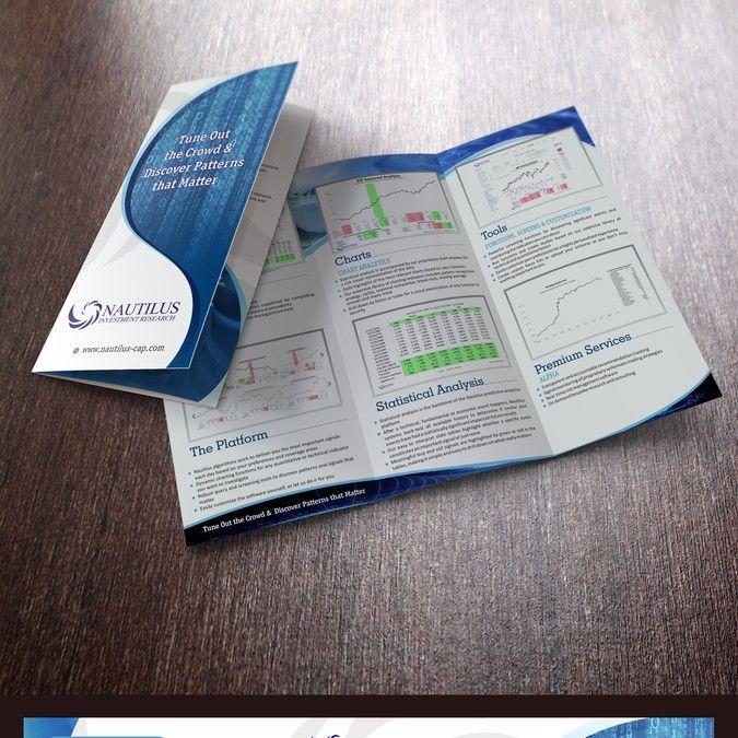freelance Create a marketing brochure for a quantitative investment