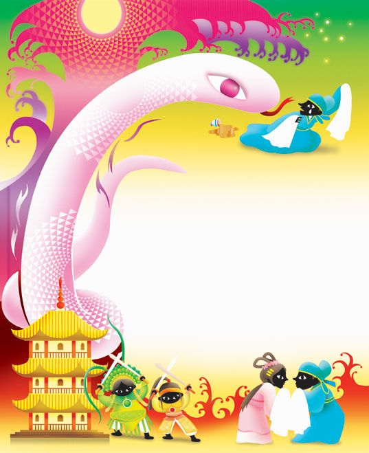 Chinese Mythology Legend Of White Snake Http Www Kaytammy Blogspot Hk Illustration Art Recycled Art