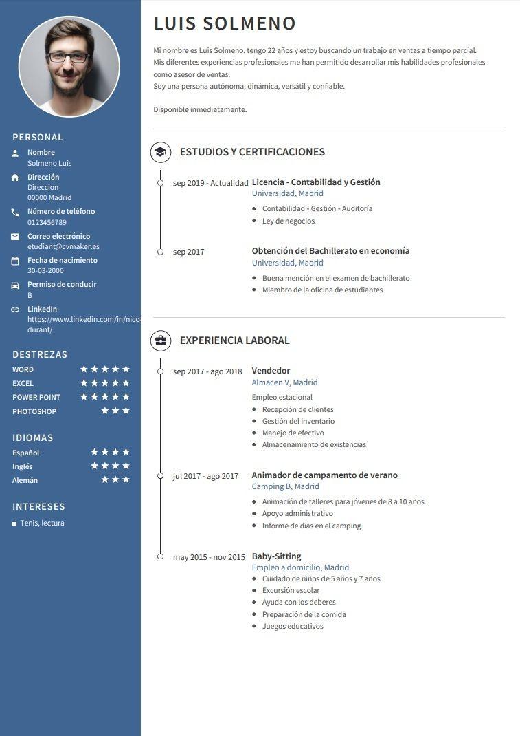 Ejemplos De Curriculum Vitae Plantillas Profesional Ejemplos De Curriculum Vitae Curriculum Ejemplo Curriculum Vitae
