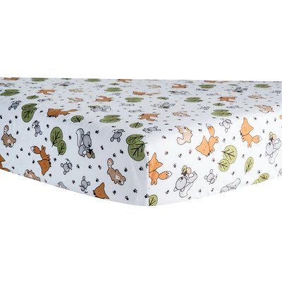 Isabelle Amp Max Forest Animal Print Fitted Crib Sheet