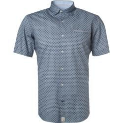 Photo of Pierre Cardin short sleeve shirt men, blue Pierre Cardin