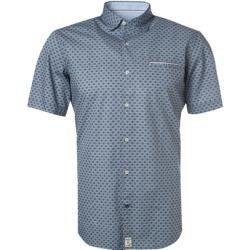 Photo of Pierre Cardin shirt short sleeve men, blue Pierre Cardin
