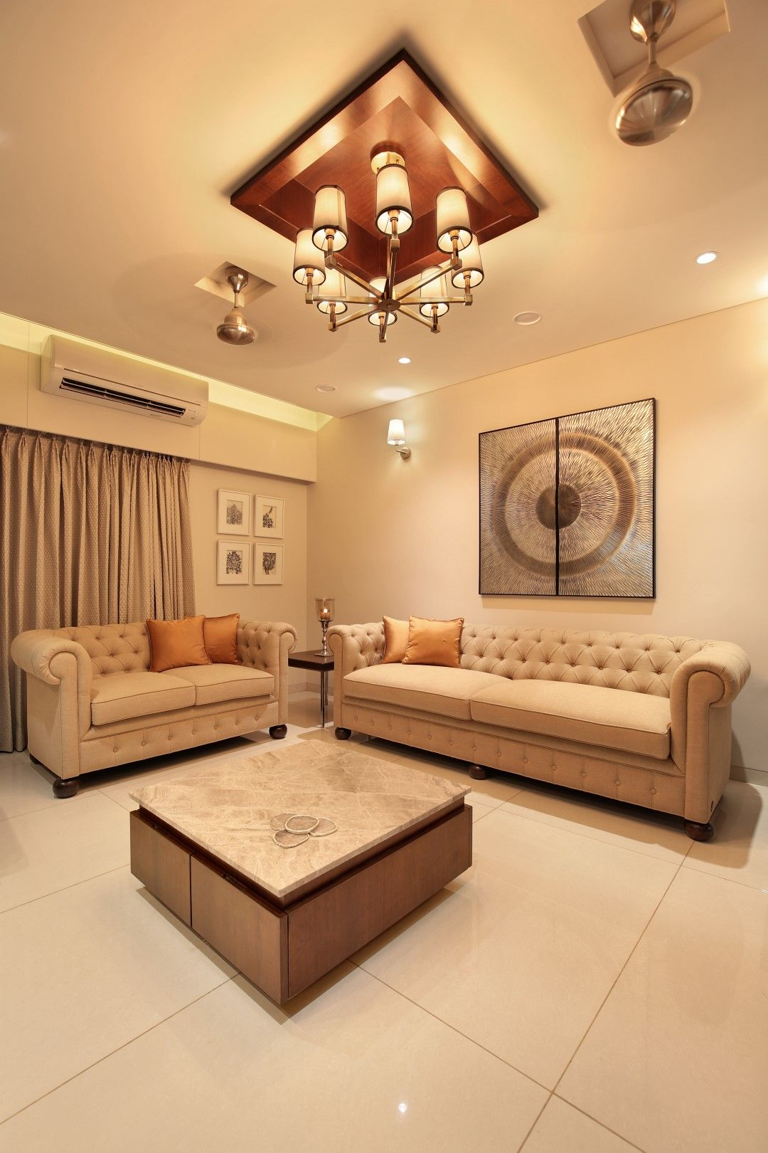 3 Bhk Flat Interiors The Oak Woods Vadodara Studio7 The Architects Diary Indian Living Rooms Living Room Sofa Design Flat Interior