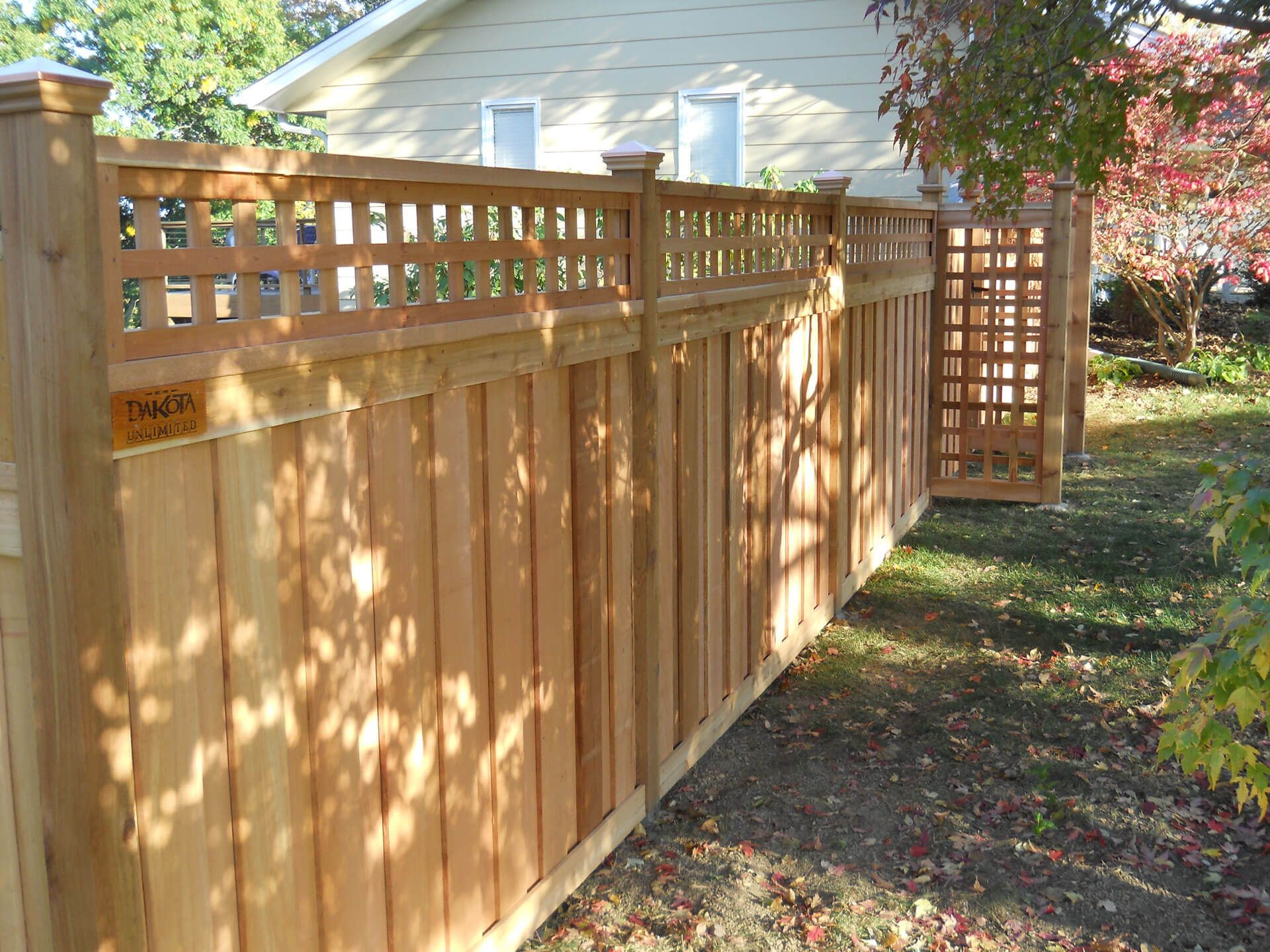 wood privacy fence in st paul lakeville twin cities on modern fence ideas highlighting your house with most shared privacy fence designs id=38253