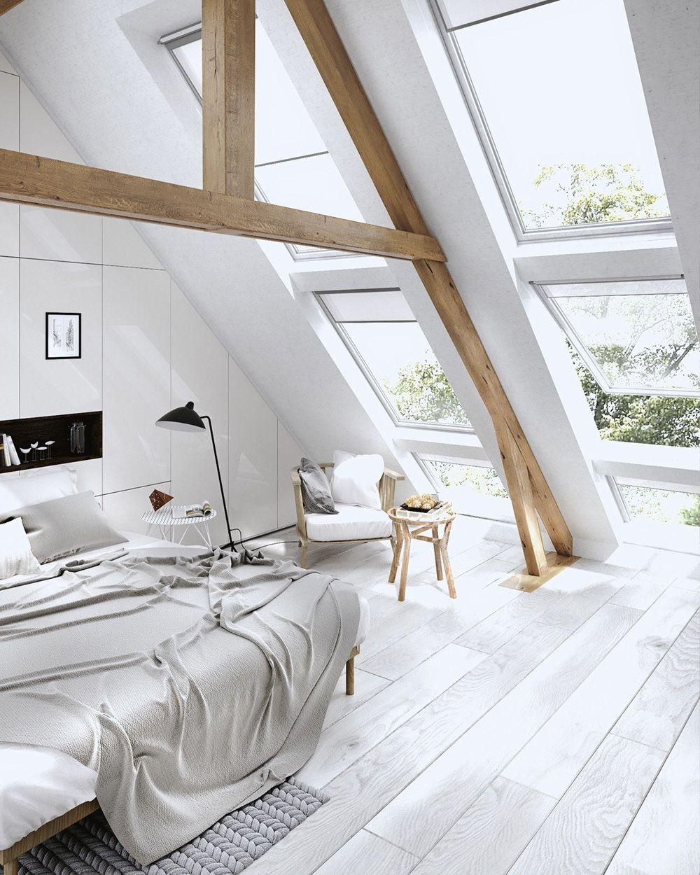 Un intérieur lumineux avec Velux | Déco combles, Combles et Velux
