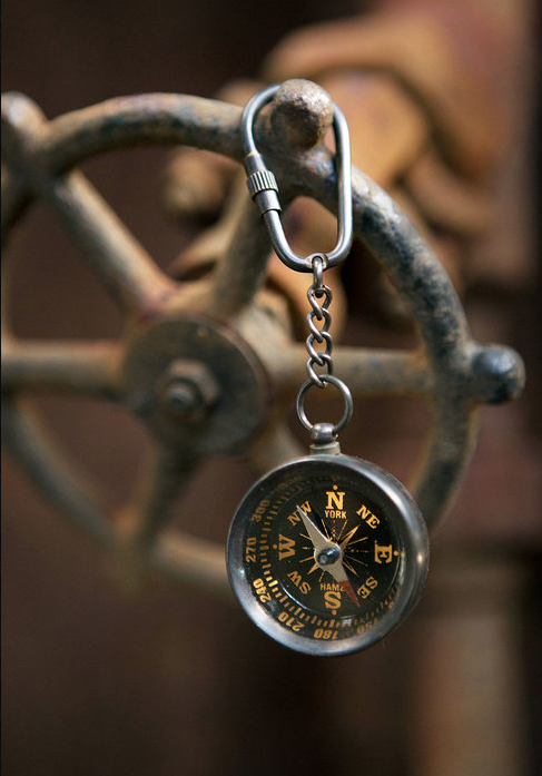 Antique Brass Compass Key Chain Design By Vagabond Vintage Compass Keychain Vintage Compass Brass Lens