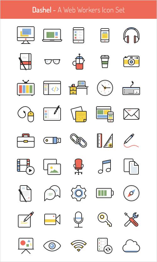 45 Free Vector Icon Set - - Fribly