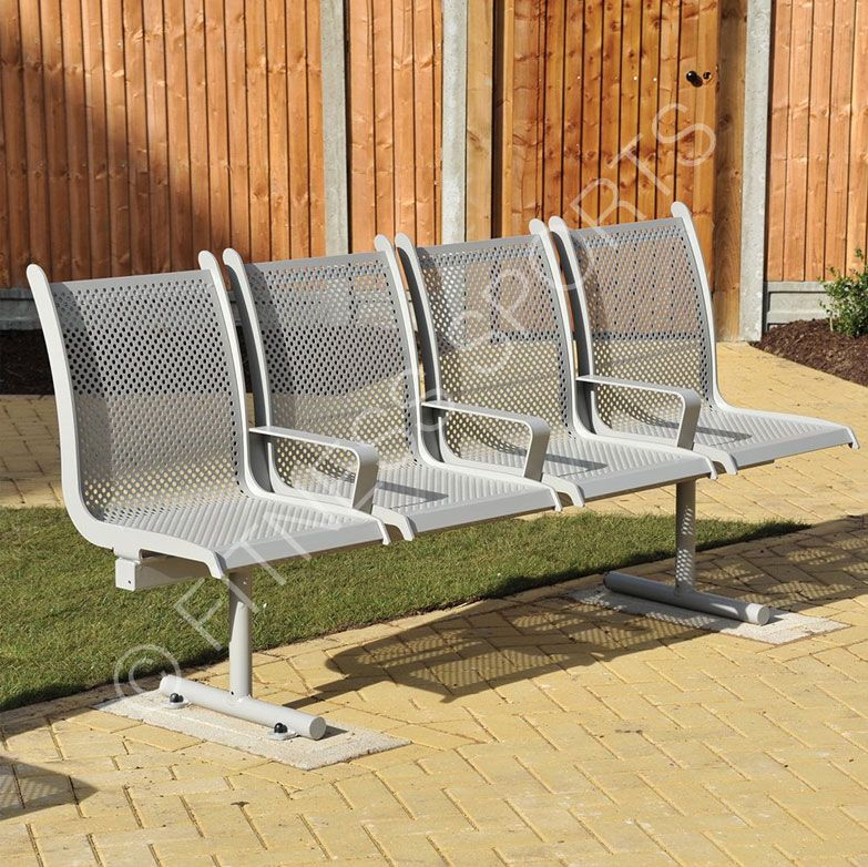 A Stylish And Highly Robust Anti Vandal Public Waiting Area Seating Unit Made From Solid Steel With Perforated Seats The Bench Outdoor Park Benches Outdo
