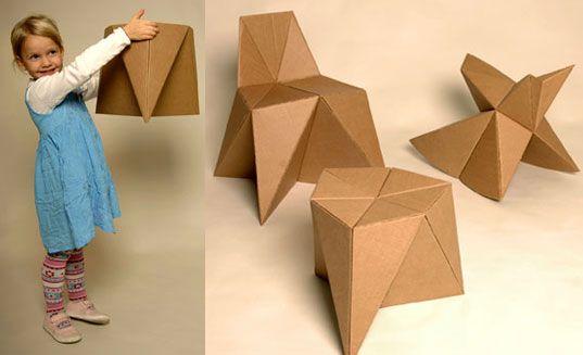 foldschool1 | crafts | Pinterest | Cardboard furniture and