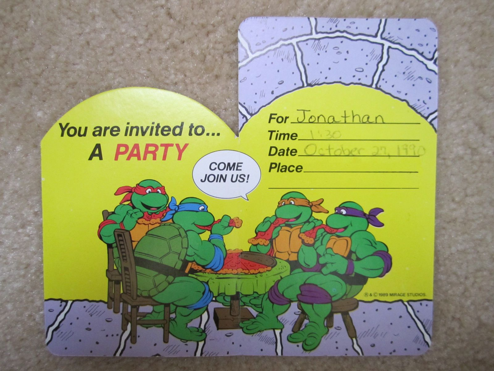 Free Printable Tmnt Birthday Invitations. These Parties Were ...
