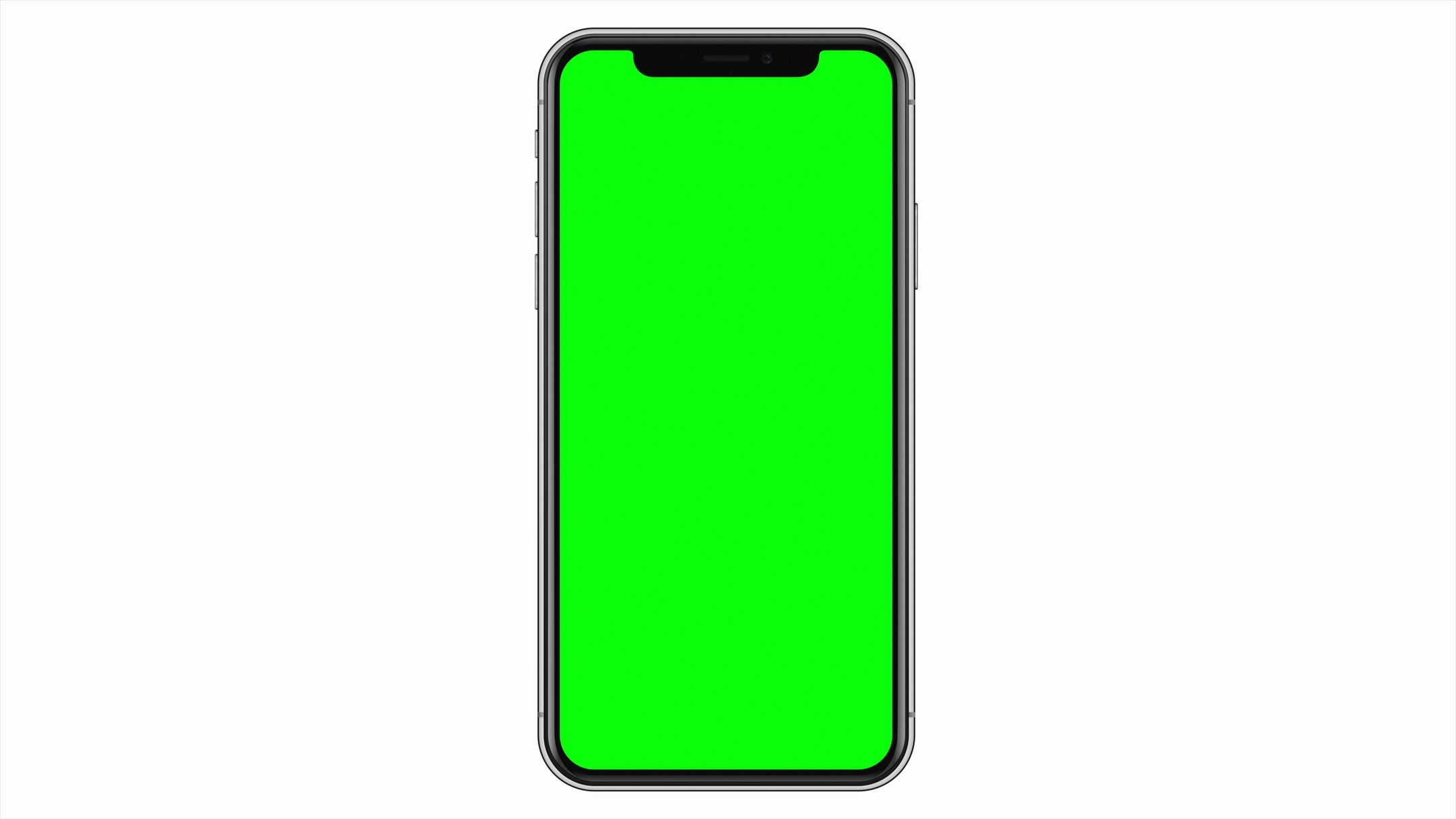 Blank Unbranded Modern Smartphone Mobile Cell Phone Green Screen White Isolated Stock Footage Smartphone Mo Green Screen Footage Greenscreen Free Green Screen
