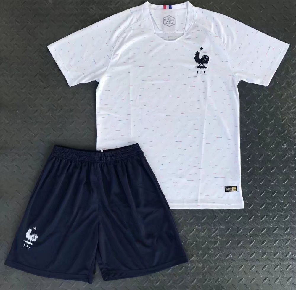 Kids 2018 France World Cup Away Kit World Cup Jerseys France World Cup 2018 Jersey Shirt