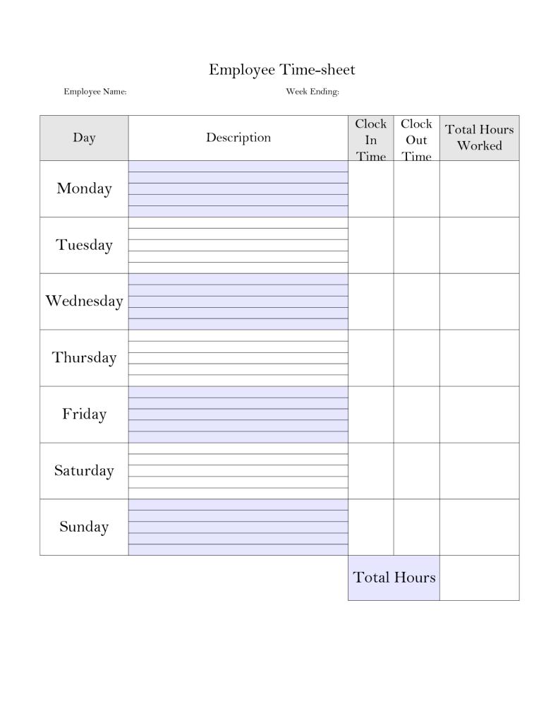 So Behalten Sie Den Uberblick Uber Ihre Arbeitszeiten Arbeitszeiten Behalten Den Homema Time Sheet Printable Work Organization Spreadsheet Template