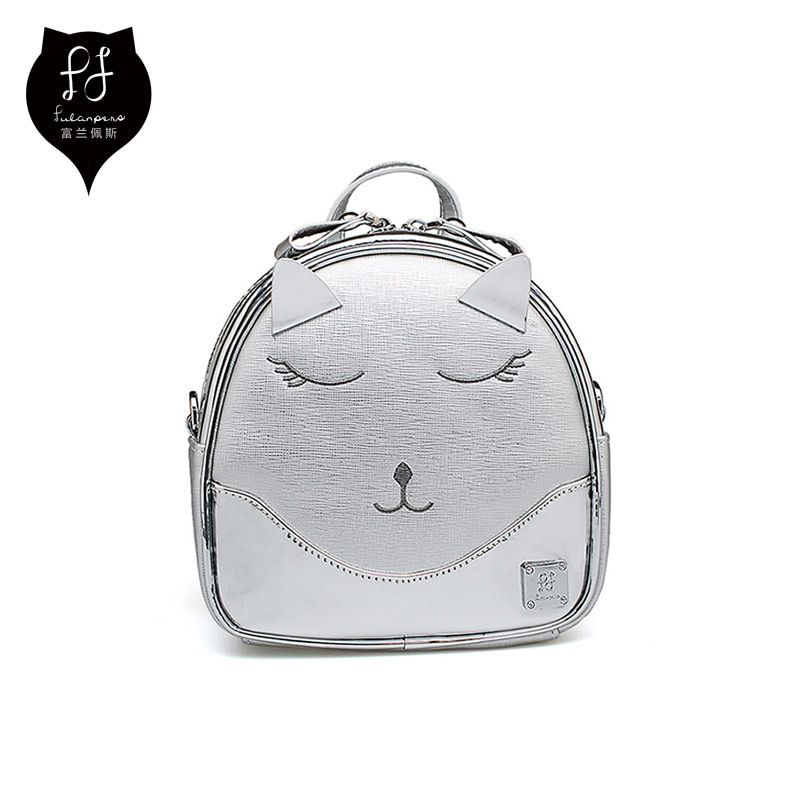 4ae3fe0ed669 FULANPERS Cute Cat Design Backpack Womens Backpack Small Bag For Teens  Female Kawaii Bag Student College