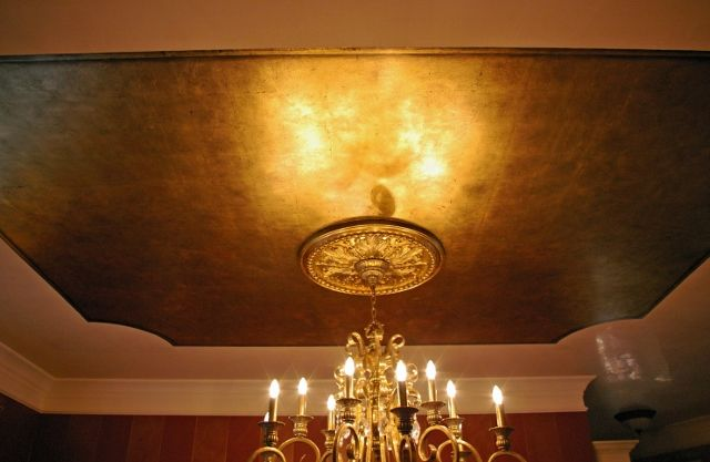 High Quality Gold Ceiling   Dining Room   Or A Whole Gold Room For The Den