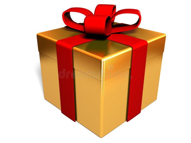 Present Box 3d Render Of Gold Present Box Isolated Sponsored Render Box Present Isolated Present Ad Clip Art Library Gifts Clip Art