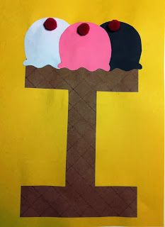 Letter i craft i is for ice cream preschool ideas for Arts and craft letters