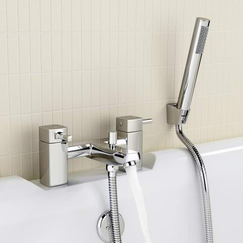 Ivela Bath Mixer Taps with Hand Held Shower Head | Bath mixer taps ...