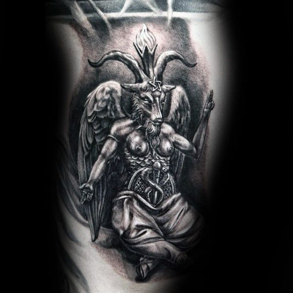 bb64deabc 50 Baphomet Tattoo Designs For Men - Dark Ink Ideas   Baphomet ...