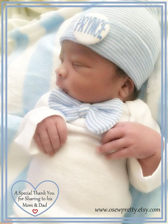 bf1035fb807b Newborn Boy Coming Home Outfit with matching hat and by osewpretty ...