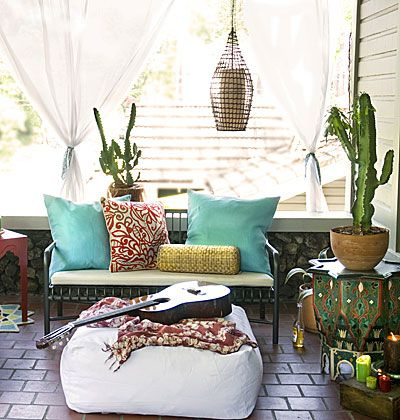 Outdoor Decor   Patio   Balcony   Bohemian Lounge   Cactus   Cacti   I LOVE