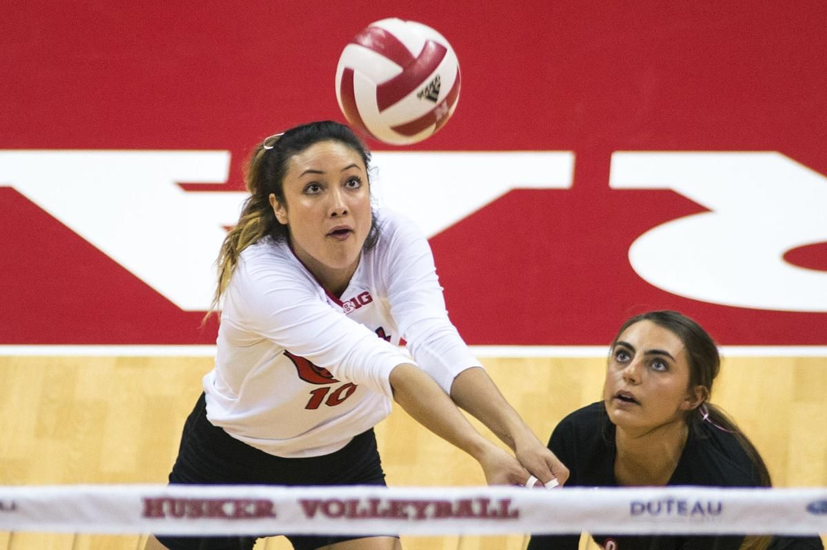 Nebraska Volleyball Team S Serve Receive Unit Always Striving For Passing Grade Volleyball Team Team S Volleyball
