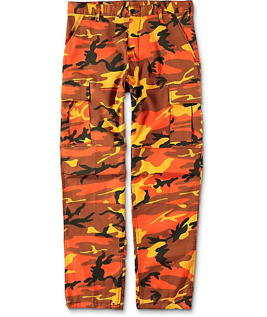 f3b08b1221 Rothco BDU Savage Orange Camo Cargo Pants in 2019 | hurricaine party ...