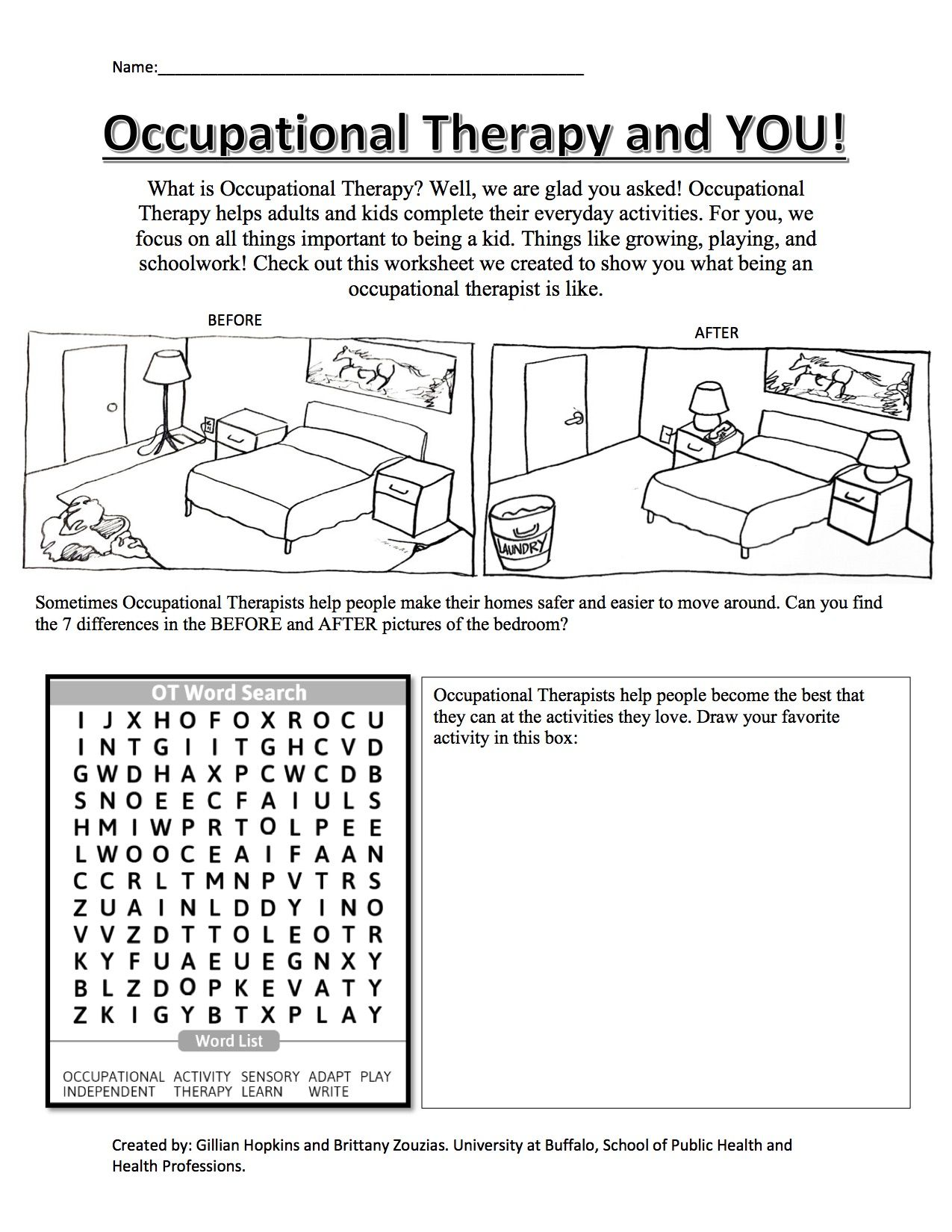 Ot Worksheet For Kids Occupationaltherapy Ot School
