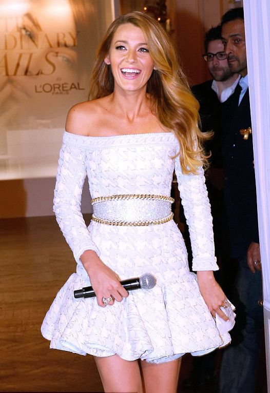 Blake is too pretty! Beautiful dress too.