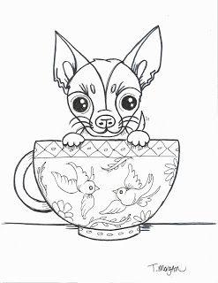 Tea Cup Puppy Drawings Novocom Top