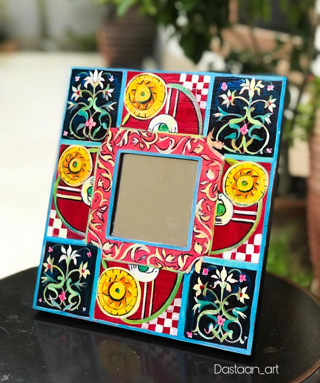 Handpainted mirror Frame For price Enquiry please Dm ...