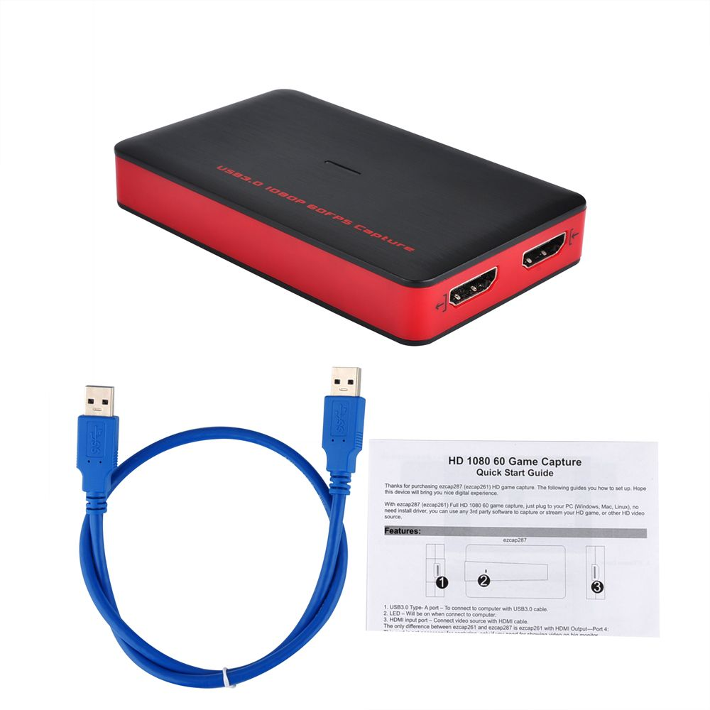 Buy Usb3 0 1080p 60fps Hdmi Game Video Capture Card Recording Box Different Types Of Tv Tuner Windowslinuxmac Win10 Free Live Streaming