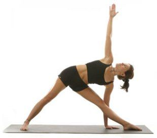 image result for triangle pose  yoga poses for beginners