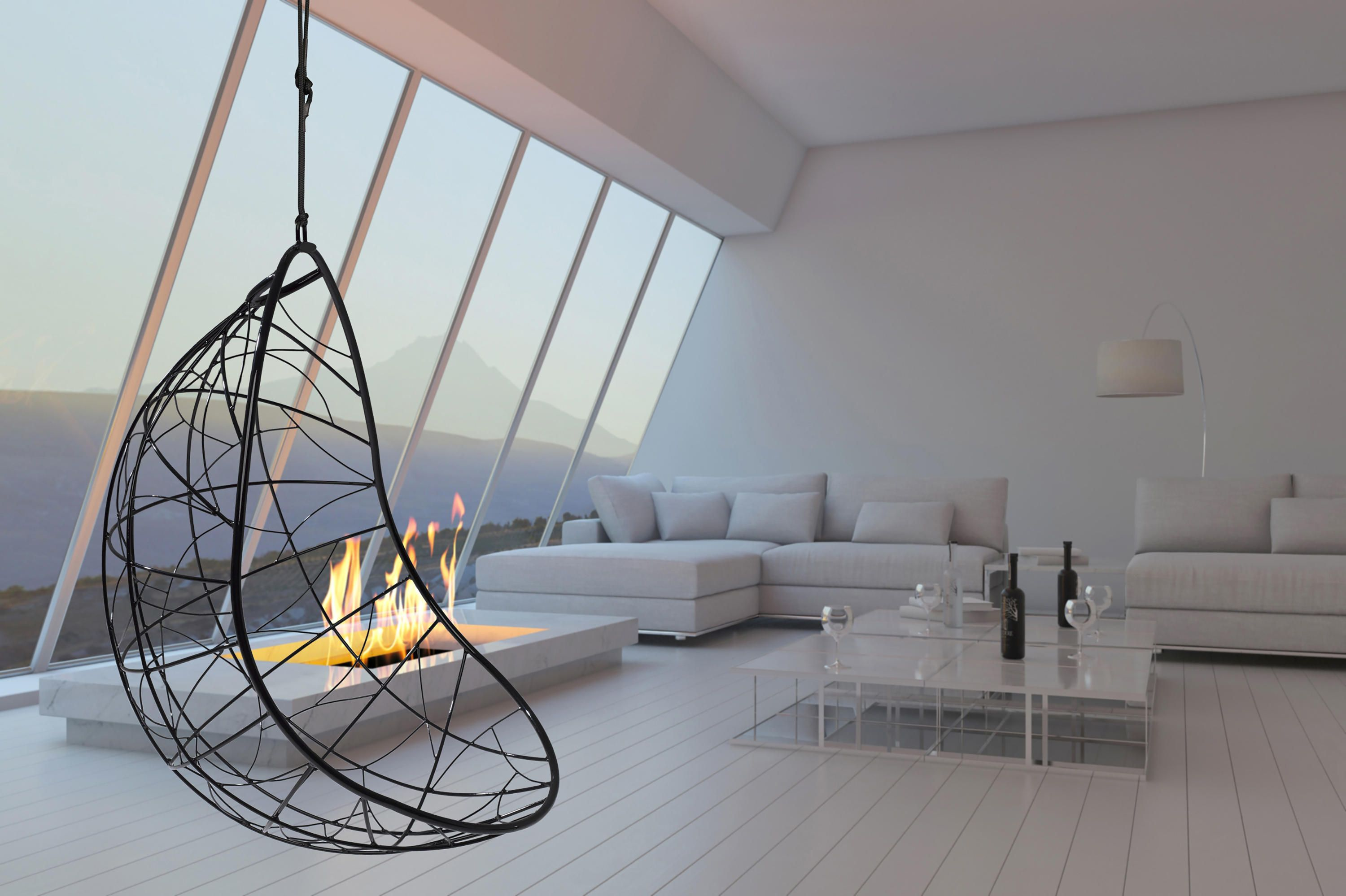 Nest Egg hanging swing chair by Studio Stirling