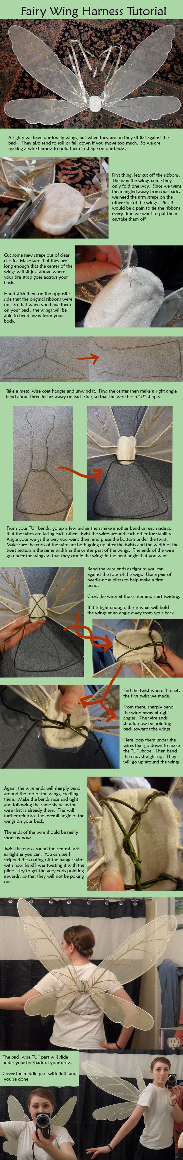 Fairy Wing Wire Harness Tutorial By Naerko Cosplay Tips And Tricks How To Build A