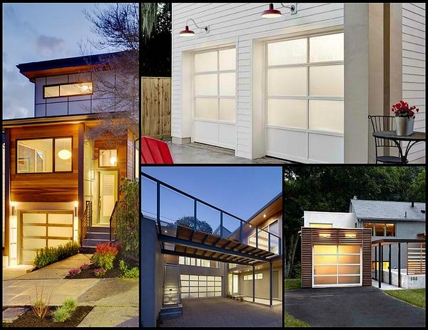 Some different styles garage doors