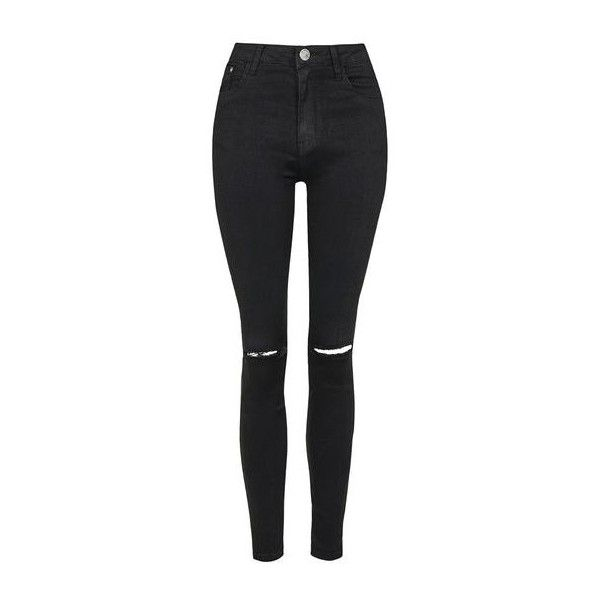 Black Denim Jeans by Glamorous (54 CAD) ❤ liked on Polyvore featuring jeans, black, topshop jeans and topshop