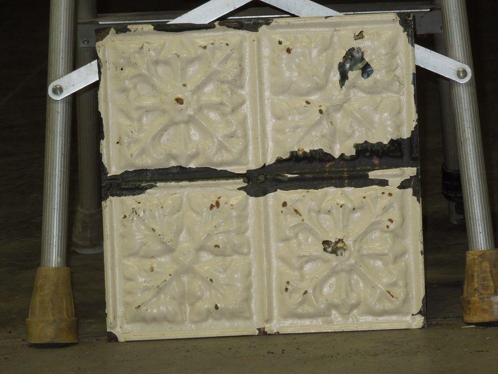 Old Antique Metal Tin Ceiling Tile Tiles 12x12 Cherokee Nation
