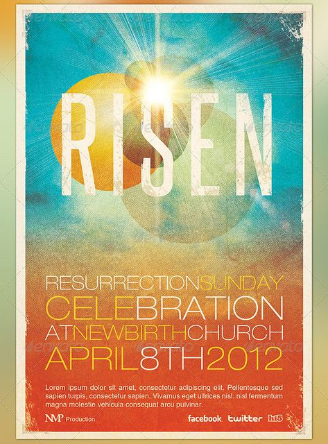 church event flyer