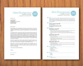 Modern Microsoft Word Resume And Pages Matching Cover Letter
