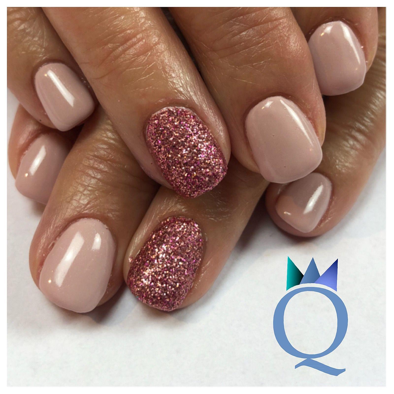 shortnails #gelnails #nails #pink #glitter #kurzenägel #gelnägel ...