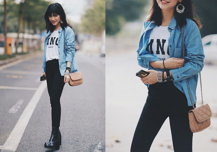 MAGIC Y. - Casual street style with MANGO