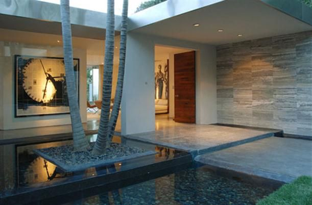 Water Feature Entrance Dream Home Design Courtyard Design