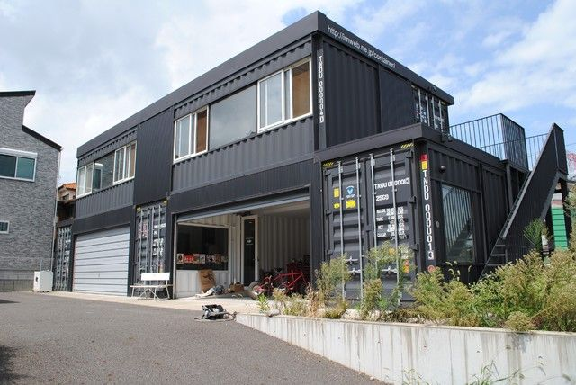Shipping Container Garage Home In Japan Container House