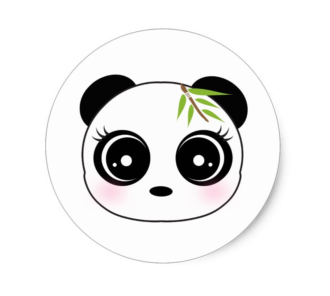 Cute Panda Face Classic Round Sticker Zazzle Com Cute Panda Wallpaper Panda Painting Panda Face Painting