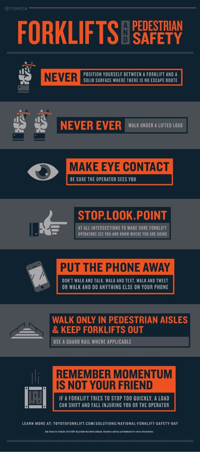 Infographic Forklift And Pedestrian Safety Material